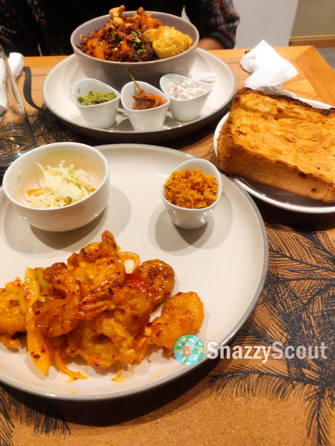 ISSO with prawns and roast-paan